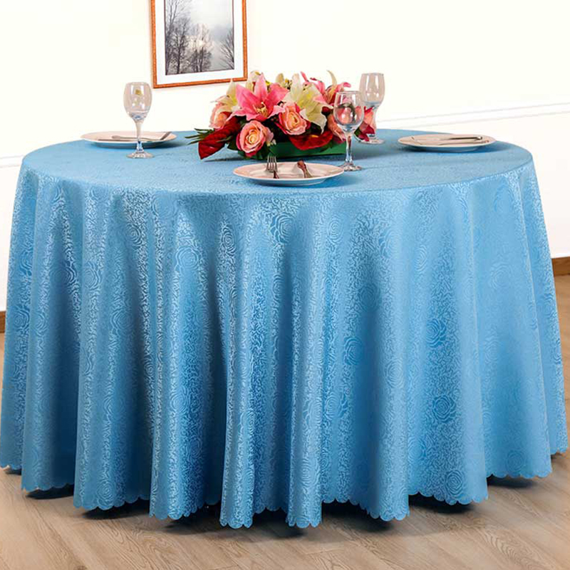 ESQUIRE Synthetic Hair Tablecloth Solid Multi Size Round or Square Jacquard Table Cloth for Restaurant Home Dining Table Cover