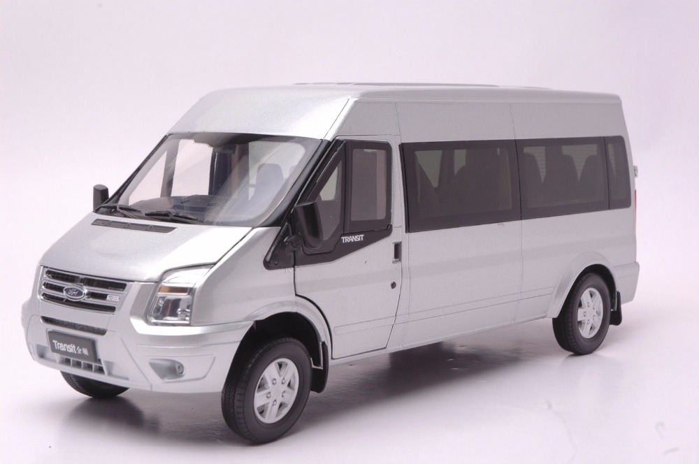 1:18 Diecast Model for Ford Transit Silver Van MPV Alloy Toy Car Collection Gifts 1 43 germany pcls vw t3 van model alloy favorites model