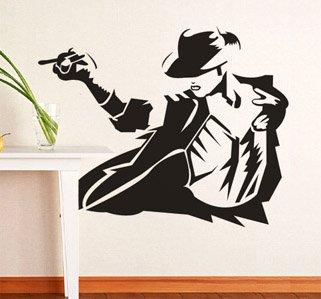 Michael Jackson Wall Stickers Muursticker Decor Sticker Vinyl Removable Art Mural Home