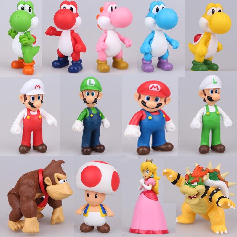 20styles anime Super Mario Bros figure Bowser Koopa Yoshi Mario ...