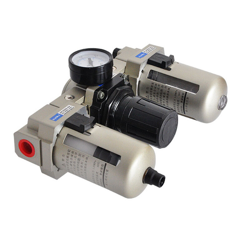 AC4000-04 1/2 inch Pneumatic FRL Air Filter Regulator Air Service Unit Oil-Water Separator Atomized Lubricator Filtrator pneumatic frl air filter regulator ac2000 1 4 inch air service unit air tac type pressure reducing valve atomized lubricator