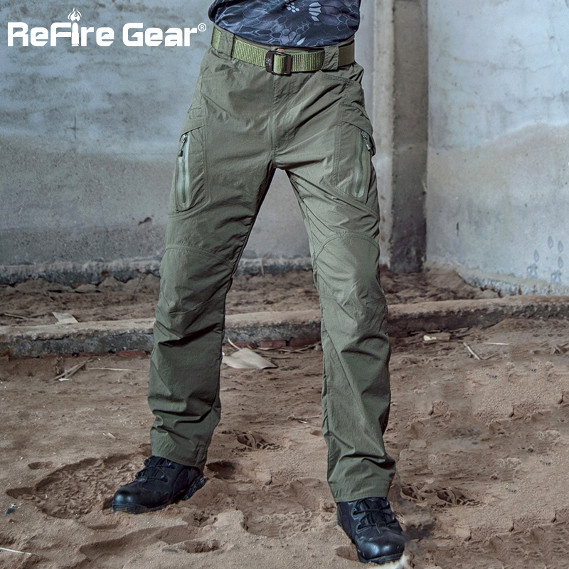 ReFire Gear Mens Tactical Cargo Trousers Cotton Outdoor Military Combat Work Pants