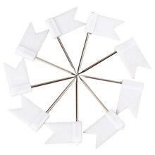 100 Флаг Форма карта булавки пробковая доска объявлений чертежные булавки нажимная булавка белый