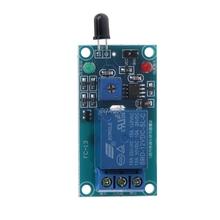 One Way 12V Flame Sensor Relay Module Fire Flame Detection Fire Alarm Module Z07 Drop ship