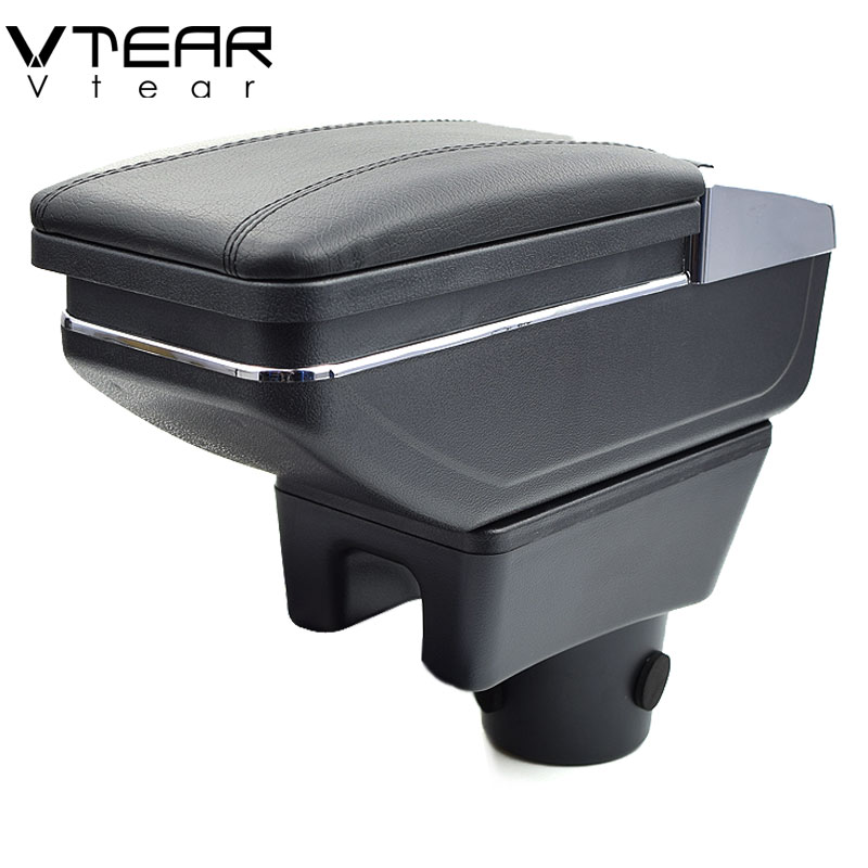 Vtear For mitsubishi Attrage Mirage armrest box central Store content box products interior Armrest Storage accessories