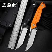 Sanrenmu S761 New Fixed Knife 8cr13mov Blade G10 Handle outdoor kydex camping survival tactical hunting Full Tang Utility knife