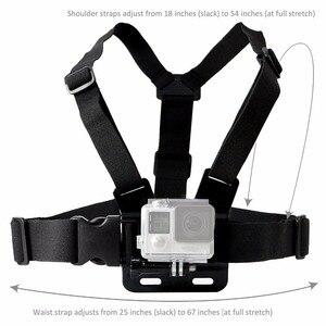 Image 3 - 移動プロアクセサリーアジャスタブルチェストマウントハーネス胸ストラップベルト移動プロ Hd Hero6 5 4 3 + 3 1 2 SJ4000 SJ5000 スポーツカメラ