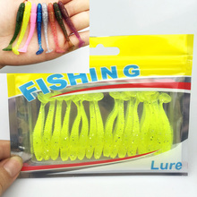 16Pcs/Lot  5cm/1g Lures Soft Bait Worms fishing lure with salt smell Hot Fishing Takcle Grub Artificial Lures Free Shipping 131