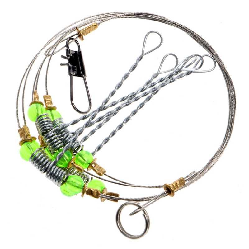 Anti-enroulement pivotant chaîne pêche en mer crochet en acier plates-formes fil Leader hameçons