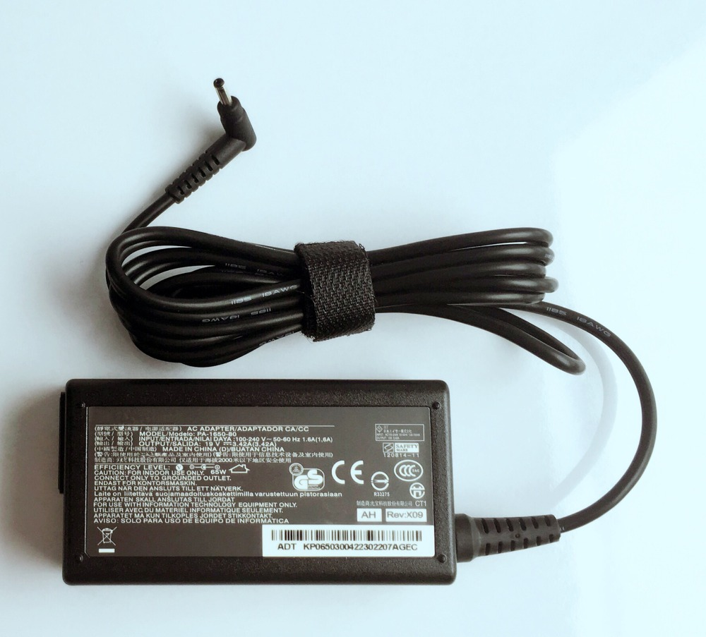 7xinbox 19v 3.42a pa-1650-80 original charger for acer chromebook c720 c720p w700 w700p power supply ac adapter
