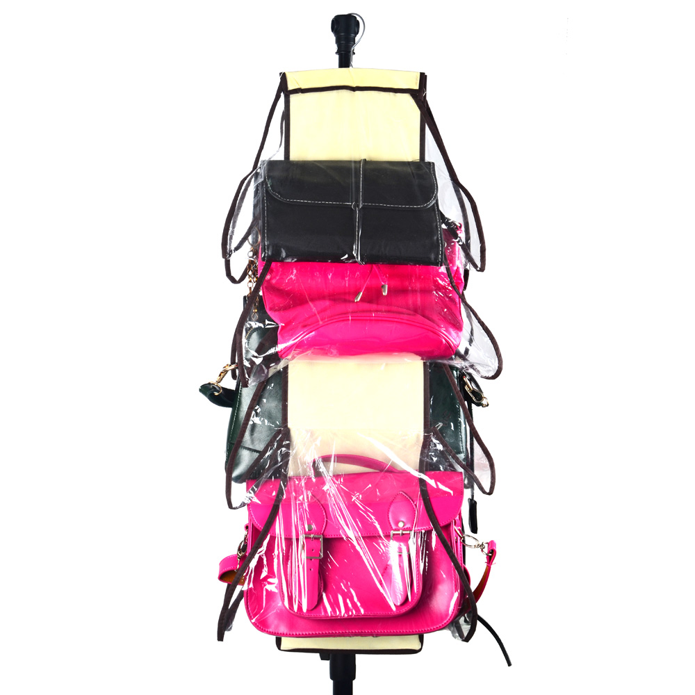HIPSTEEN 8 Pocket Folding Hængende Håndtaske Opbevaringsorganizer Hængende Rygsæk Diverse Sko Opbevaringspose til Skabet Home Supplies