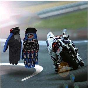 Image 5 - Skórzane rękawiczki rękawice motocyklowe motocykl motocross jazda na rowerze oddychające mężczyźni kobiety pełne palec dotykowy rękawice do ekranu