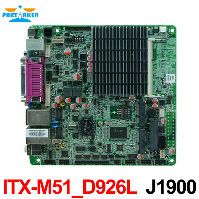 J1900 Bay trail Mini ITX Motherboard Com dual Gigabit Ethernet 6 * COM 8 * USB MINI-ITX-M51-D926L