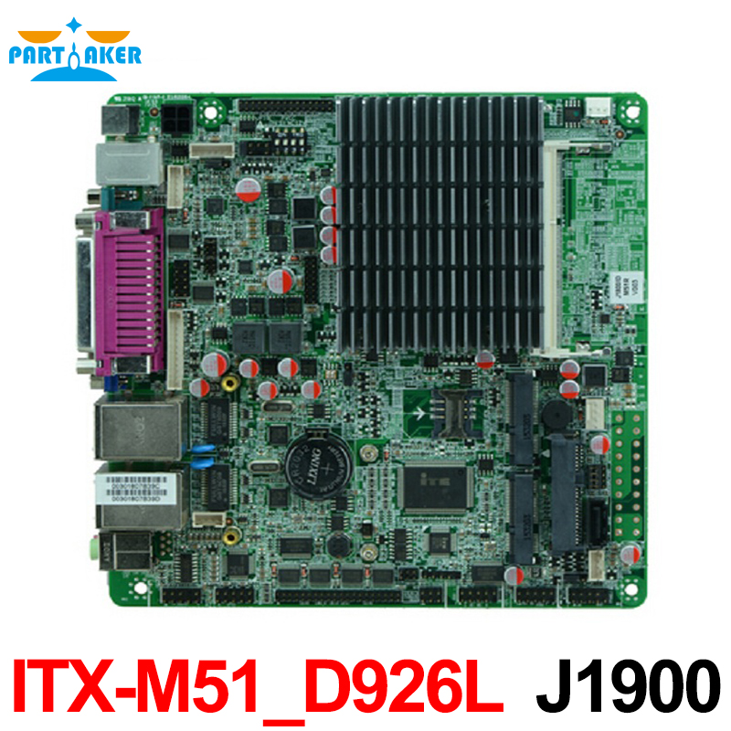 J1900 Bay trail Mini ITX Motherboard With dual Gigabit Ethernet 6 *COM 8*USB MINI-ITX-M51-D926L mini itx motherboard with ops interface for digital signage
