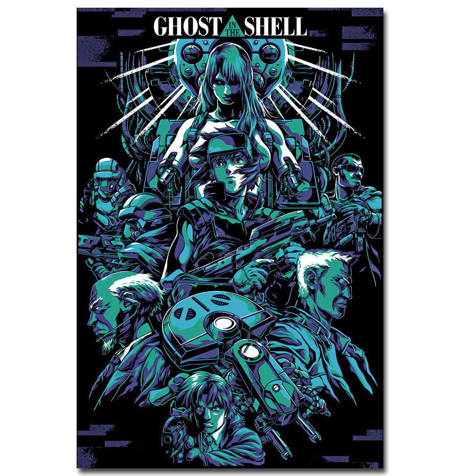 Ghost in the Shell Movie Art Silk Poster 12x18 24x36
