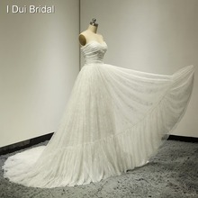 Sweetheart Lace Wedding Dresses Real Picture Real Photo Exquisite Pleated Factory Custom Made Elegant Design ELS-006