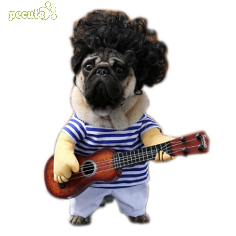 Dog Guitar Clothes Costume Fancy Dress Halloween Day Funny Clothing Party Creative Dog GIft Cloth Pet Xmas Gift Decoration