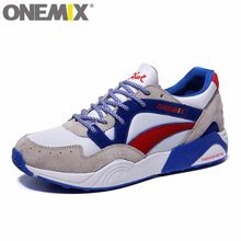ONEMIX Retro Trend Men's Running Shoes for Women Breathable Walking Outdoor Sport Sneakers Free Shipping