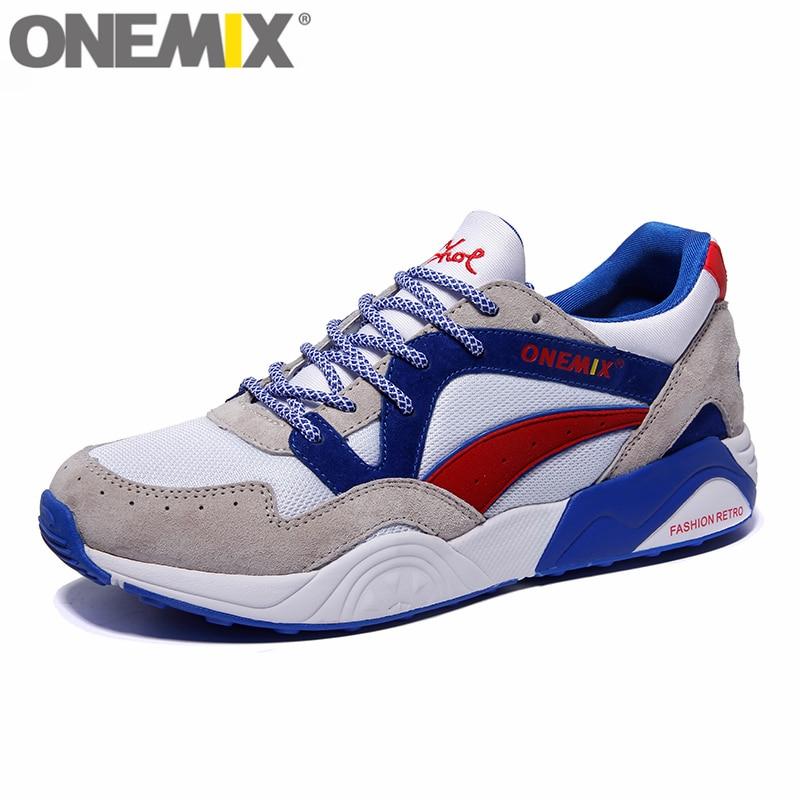 ONEMIX Retro Trend Men's Running Shoes for Women Breathable Walking Outdoor Sport Sneakers Free Shipping onemix men s running shoes breathable zapatillas hombre outdoor sport sneakers lightweigh walking shoes plus size 39 47 sneakers