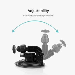 Image 3 - Vamson for Go Pro Hero 8 7 6 5+9CM Diameter Car Suction Cup Tripod Base Mount For Gopro Accessories for SJ4000 for Xiaomi VP522