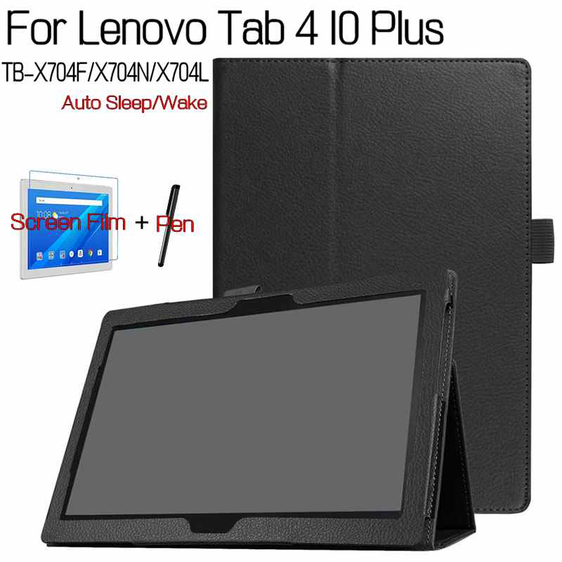 Case for Lenovo Tab 4 10 Plus TB-X704F/X704N/X704L 10.1 Tablet ,iBuyiWin Smart PU Leather Funda Cover+Free Screen Protector+Pen high quality folio pu leather case cover for lenovo tab 4 10 plus tb x704f x704n 10 1 inch tablet stylus film
