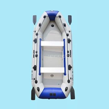 Bote inflable de PVC para 8-10 personas, bote de remos para pesca en Río, balsa con remos de aluminio, bomba de aire D3360 728 kg, peso de carga 0,9 MM