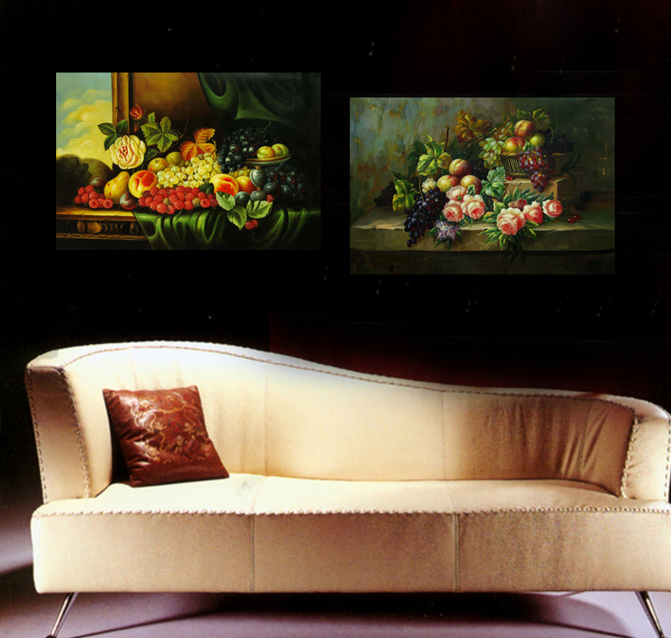 Hd canvas print painting no frame grapes fruit and for Kitchen paintings pictures