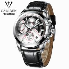 2017 leather Watch Men Luxury Brand CADISEN Military Sport Quartz Watch Men's Wristwatches army Clock men relogio masculino
