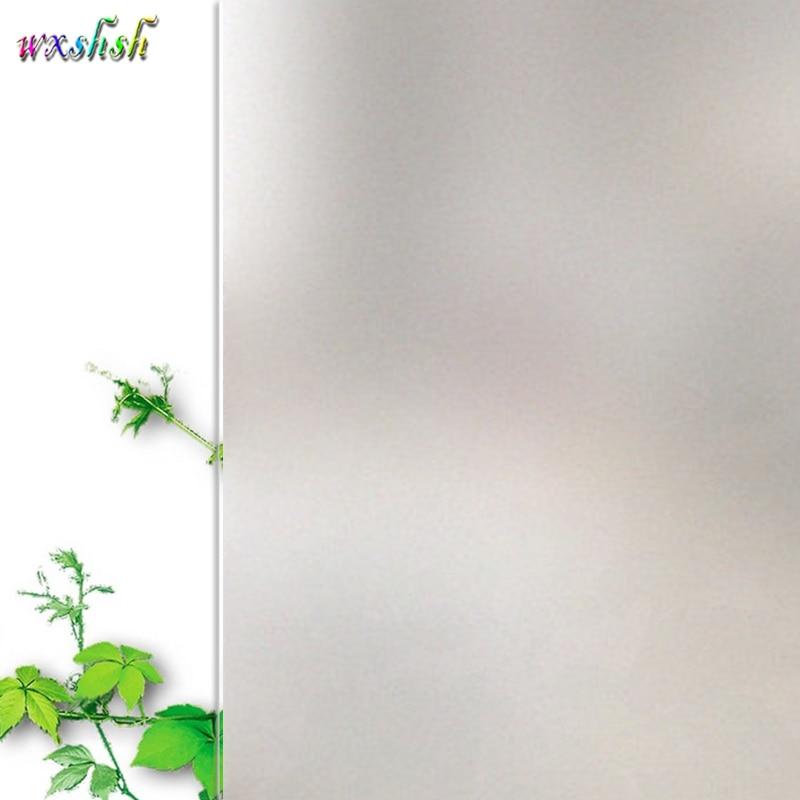 Матовая стеклянная пленка для дома и офиса, 75*400 см, матовая белая оконная пленка, статическая липкая виниловая стеклянная пленка