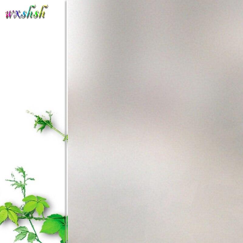 75*400 centímetros Sem Adesivo Fosco Película de vidro Do Escritório Em Casa, Etiquetas Da Janela Privacidade Fosco Branco, estática Adere-se Vinil Folha De Vidro