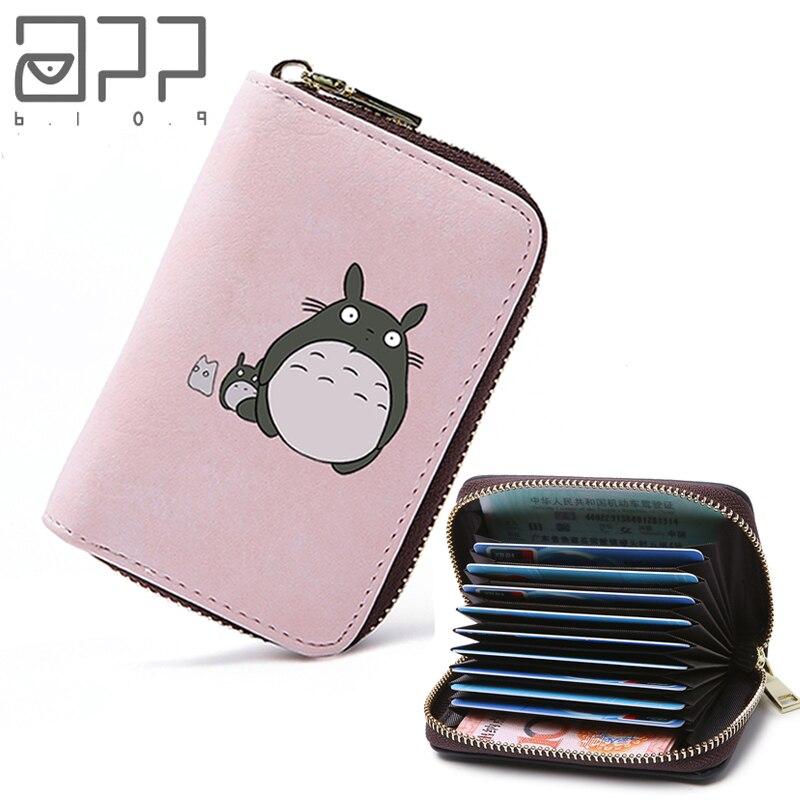 APP BLOG Cute Cartoon Totoro Women Men Credit ID Card Holder Case Extendable Bags Small Wallet Coin Purse Carteira Feminina Muje