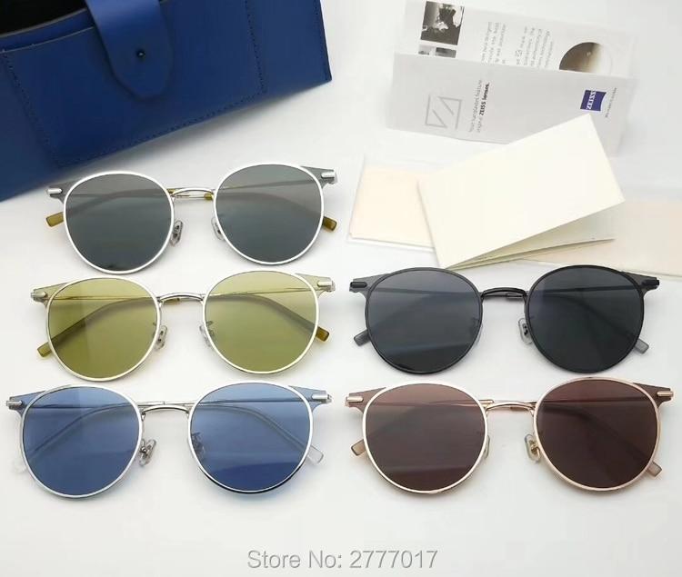 Gentle Moor Designer Classic Polarized Driving Round Sunglasses Men Retro John Lennon Glasses Women Metal Fashion