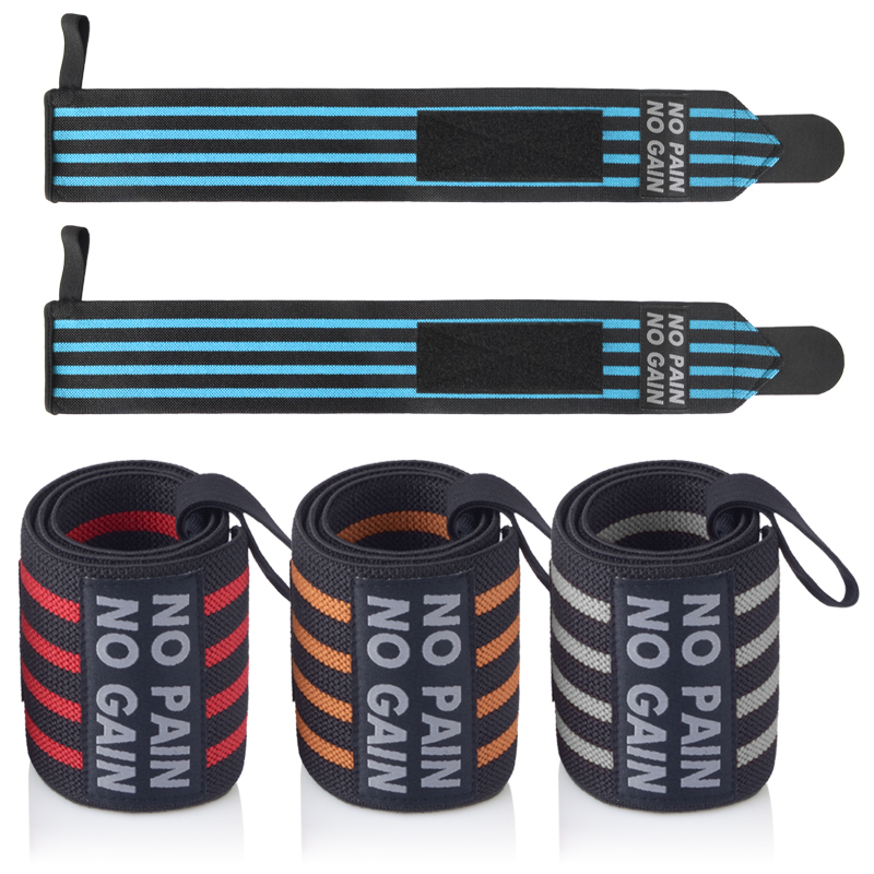 NO PAIN NO GAIN Wrist Wraps Sport Bandage Weightlifting Sport Wristband Gym Support 2 PCS Fitness Protective High Quality XNHW