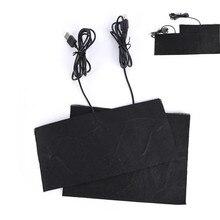 1 шт. углеродное волокно грелка для рук грелка USB нагревательная пленка электрическая зимняя инфракрасная Температура коврик теплые прокладки