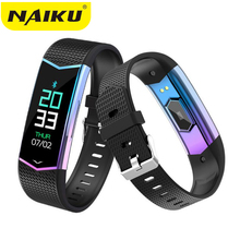 NAIKU Smart Bracelet Fitness Tracker Wristband Blood Pressure Heart Rate Monitor With Pedometer Sport Band for Men Women watch naiku fitness tracker wristband heart rate monitor smart bracelet f1 smartbracelet blood pressure with pedometer bracelet
