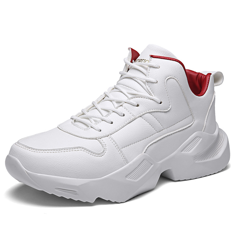 Mens Shoes 2019 Spring and Summer Tide Sports Sneakers Korean Version of Trend Pure Color Casual White Jordans Retro