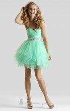 2016 neue Kostüme Empfehlen Günstige Schatz Mini Prinzessin Homecoming Kleid abendkleid Nach Maß Kurze Partei Cocktailkleid