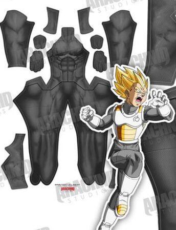 High Quality 3D Print Dragonball Z Vegeta Super Saiyan Fighting Uniform Anime Cosplay Costume GRAY SAIYAN