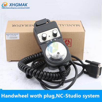 Engraving machine wired electronic handwheel CNC system pulse generator NC Studio CNC machine CNC hand wheel 15 pin connector