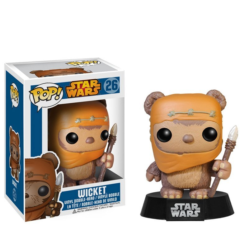 цена на Funko pop Official MOVIES: STAR WARS - EWOK WICKET Vinyl Action Figure Collectible Model Toy with Original Box