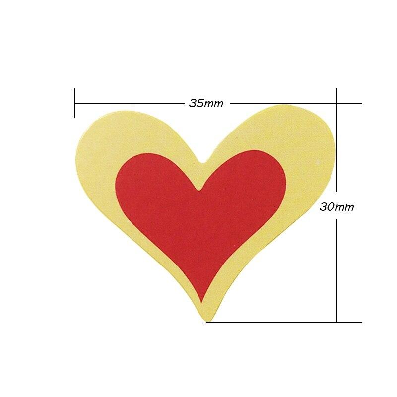 Купить с кэшбэком 90 Pcs/lot Kawaii Stikers Red Romantic Heart Shape Kraft Paper Seal Sticker For Handmade Products New Year Gift Package Label