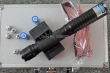 Wholesale prices 5000mw 5in1 Strong Military Blue Laser Pointer SOS Flashlight Burn match Candle lit Cigarette Wicked Lazer Torch 5Watt+Glasses