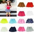 2016 Nuevo estilo de impresión de algodón de alta calidad niña falda del bebé del tutú niños durante hip falda muchachas del bebé mini falda plisada