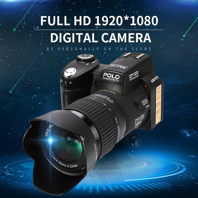 Profissional DSLR Full HD 1920x1080 Câmera Digital Câmera de Vídeo Suporte a Cartão SD Portátil Óptico de Alta Performance