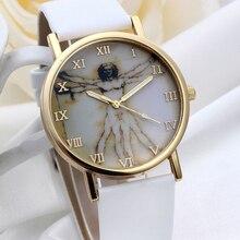 Women Fashion Watches Retro Style Clock Dial Leather Band Quartz Analog Lady Girl Wrist WatchesF3