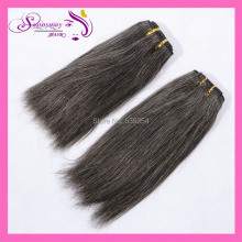 2016 New Fashion Grey Hair Bundles Straight Virgin Human Hair Extensions Machine Made Grey Hair Weft