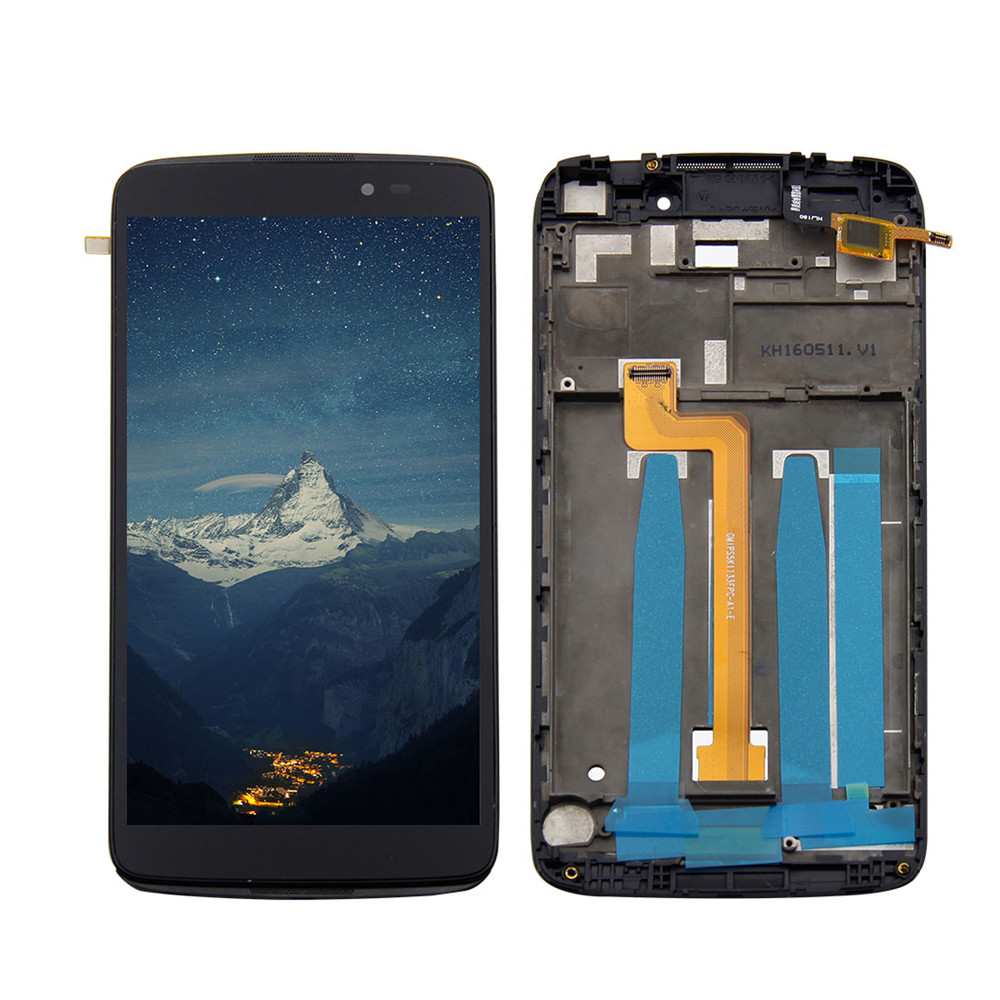 For 5.5Alcatel One Touch Idol 3 6045 OT6045 6045Y 6045F LCD Display Digitizer Screen Touch Panel Glass Assembly + Frame