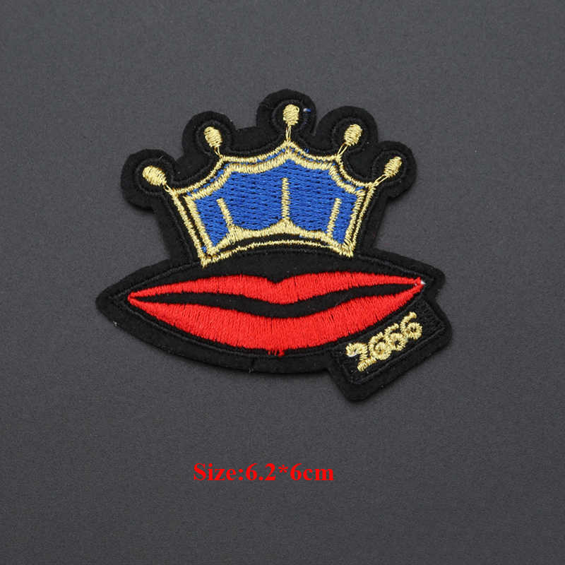 9 Pcs Bibir Seksi Lipstik Payet Patch untuk Pakaian Punk Patch Parches Ropa Bersulam Baju Jaket Patchwork Bordiran
