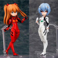 Anime action model 14cm Ayanami Rei & Asuka Langley Neon Genesis Evangelion Nendoroid Movable joints cartoon toy gift F7193