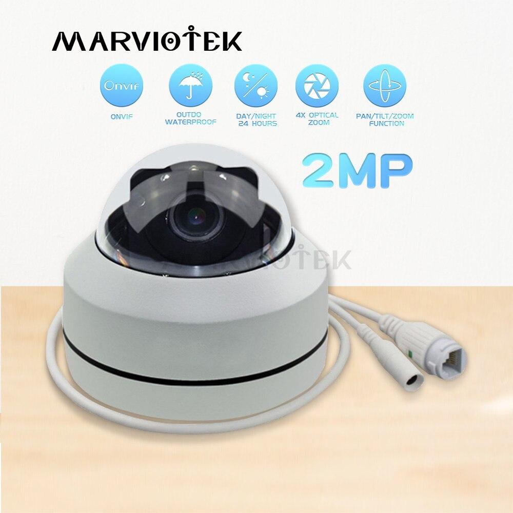 1080 P HD PTZ IP Caméra Extérieure Étanche de sécurité à domicile Mini Vitesse caméra dôme IP Onvif 4X Zoom P2P IR vision nocturne POE En Option